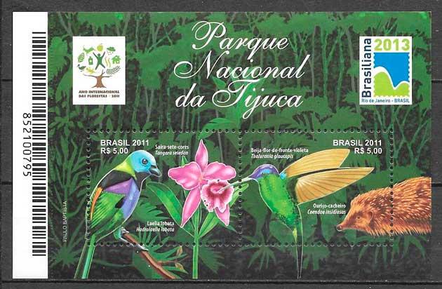 filatelia fauna y flora Brasil 2011