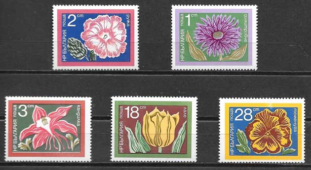 sellos Bulgaria flora 1974