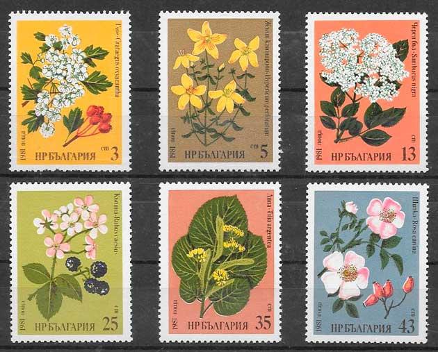 sellos flora Bulgaria 1981