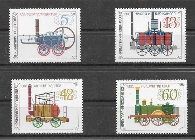 Sellos trenes antiguos de Bulgaria