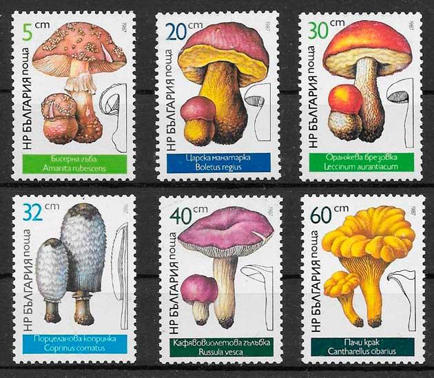 sellos setas Bulgaria 1987