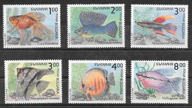 filatelia fauna Bulgaria 1993