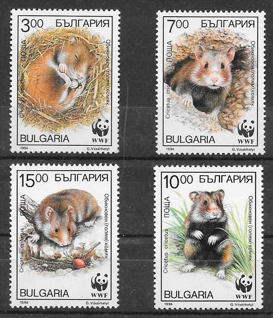 filatelia wwf Bulgaria 1994