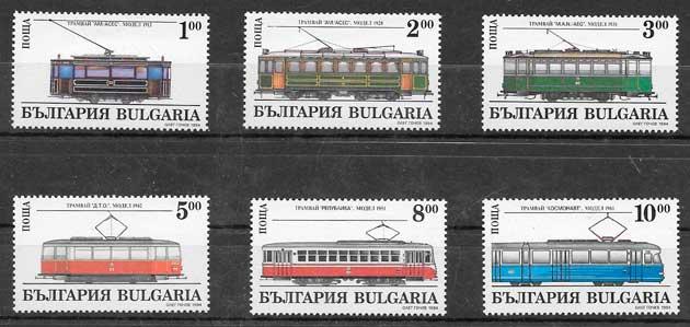 filatelia coleción trenes Bulgaria 1994