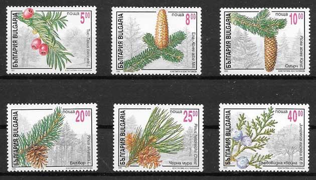 sellos flora Bulgaria 1996