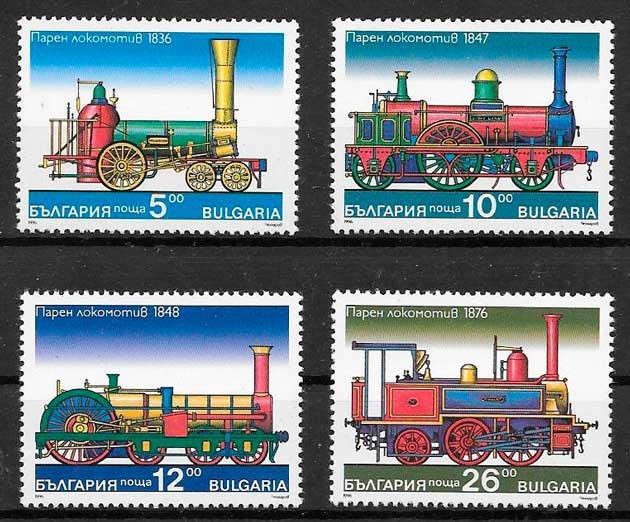 sellos trenes Bulgaria 1996
