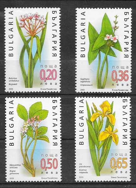 colección sellos flora Bulgaria 2003