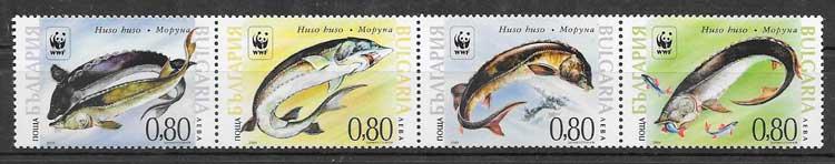 colección sellos fauna wwf Bulgaria 2004