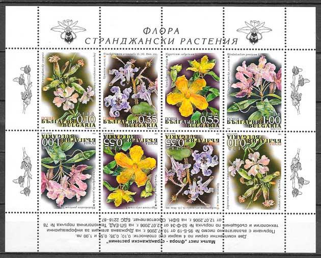 colección sellos flora Bulgaria 2006