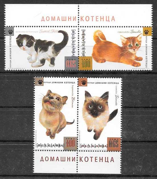 sellos gatos y perros Bulgaria 2013