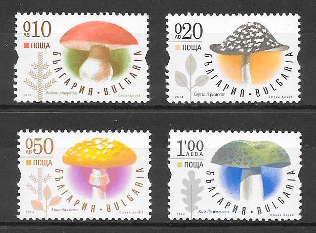 colección sellos setas Bulgaria 2014