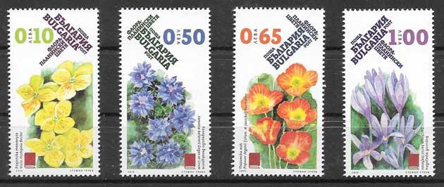 Sellos flores Bulgaria 2015