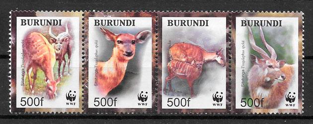 sellos wwf Burundi 2004