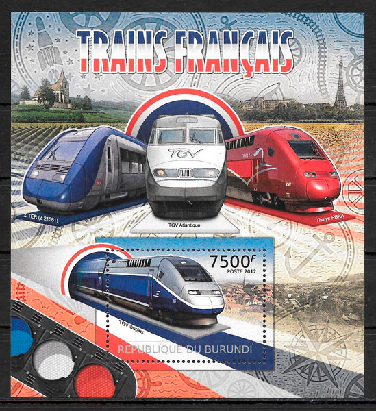 sellos trenes Burundi 2012