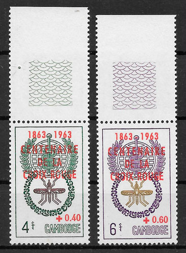 filatelia colección cruz roja Camboya 1963