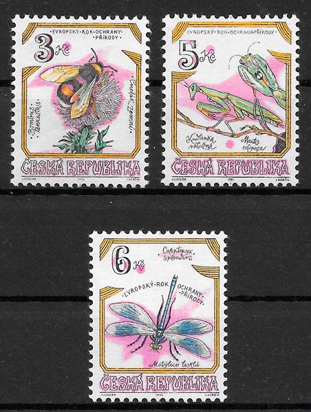 filatelia fauna Chequia 1995