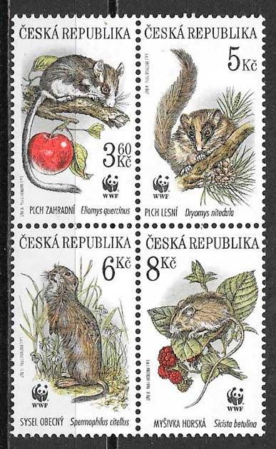 sellos fauna wwf Chequia 1996