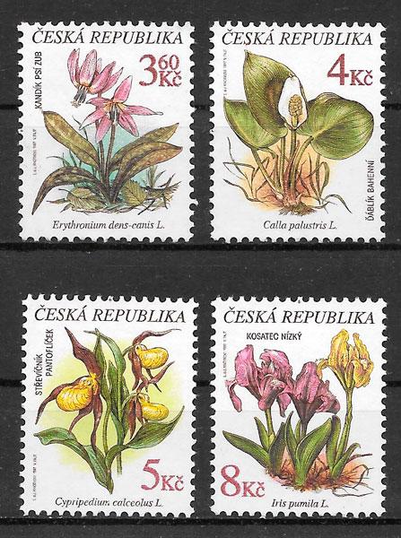 filatelia flora Chequia 1997