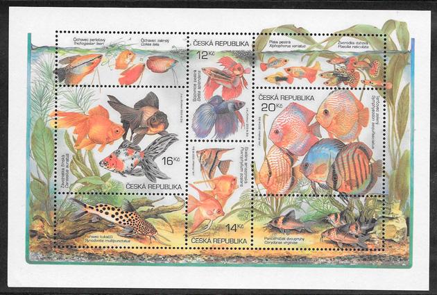 colección sellos fauna Chequia 2003