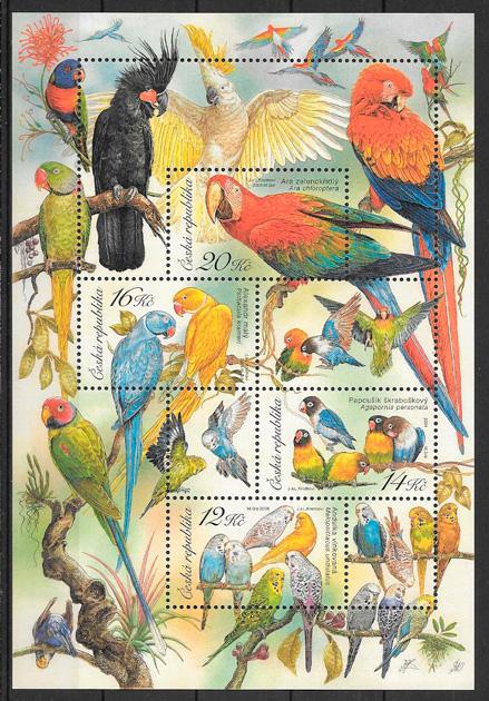 colección sellos fauna Chequia 2004