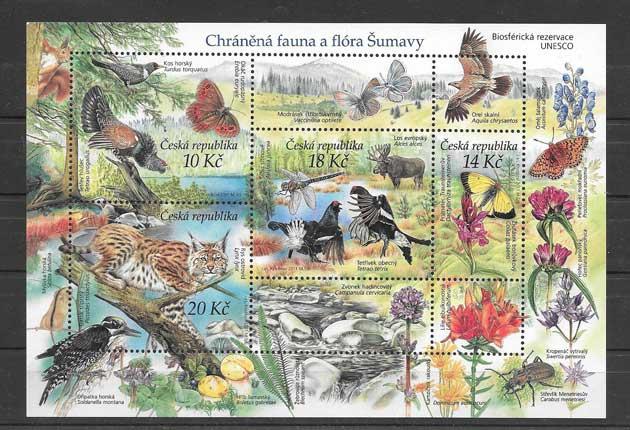 Filatelia sellos fauna y flora protegida.
