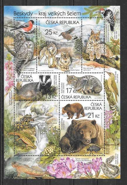 hojita de mamíferos salvajes de Chequia