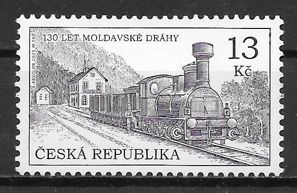 colección sellos trenes Chequia 2015