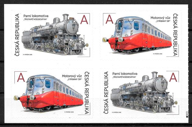 sellos trenes Chequia 2018