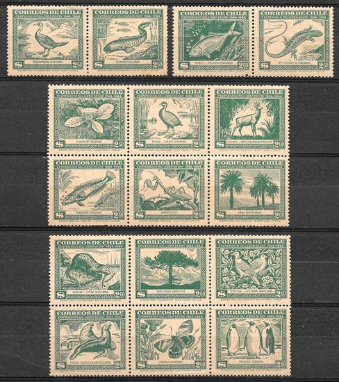 selos fauna Chile 1943