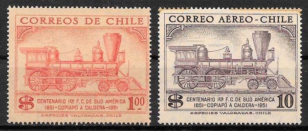 selos trenes Chile 1954