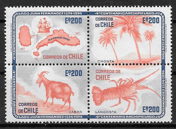 sellos fauna Chile 1974
