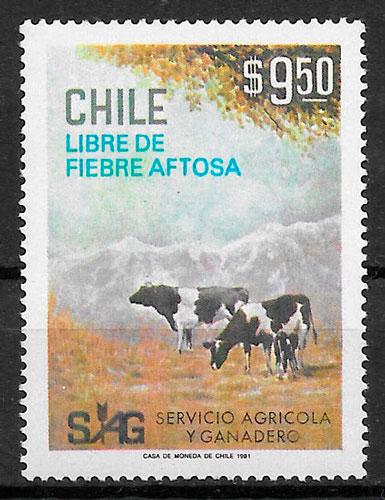 sellos fauna Chile 1981