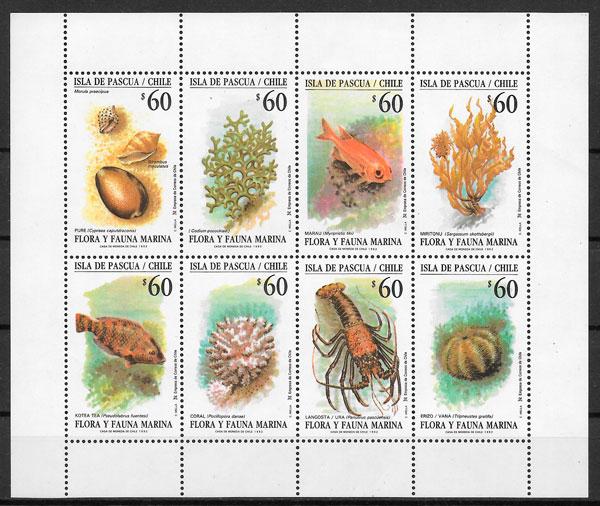 sellos fauna y flora de Chile 1992