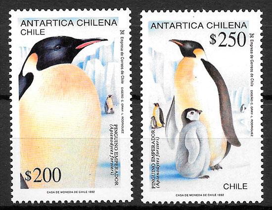 sellos fauna Chile 1992