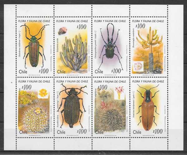 sellos fauna y flora Chile 1995
