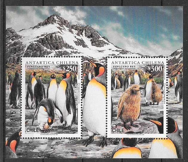 sellos fauna Chile 1996