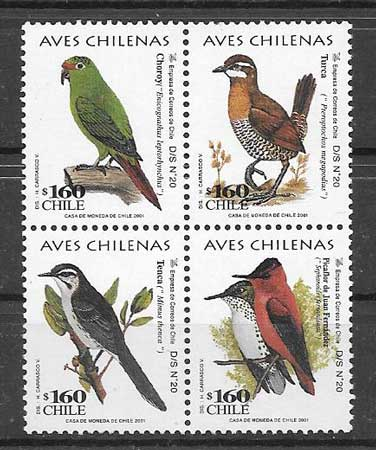 sellos fauna Chile 2001