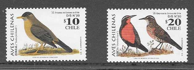 sellos aves 2002 Chile 2002