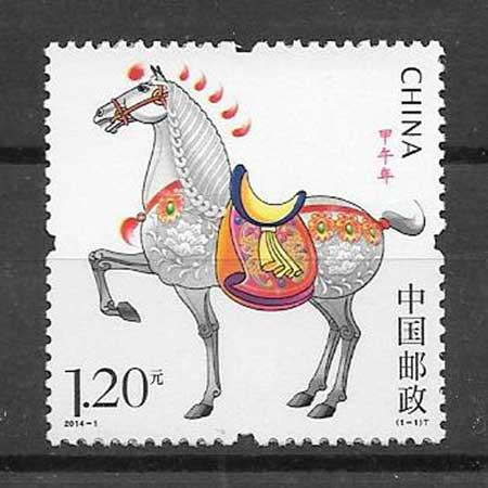 Sellos año lunar caballo China-2014-01