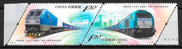 filatelia trenes China 2019