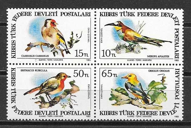 Sellos fauna Chipre Turco 1983