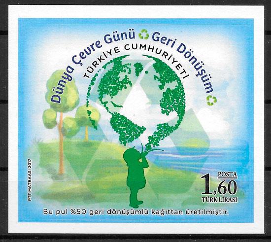 colección selos flora Turquía 2017