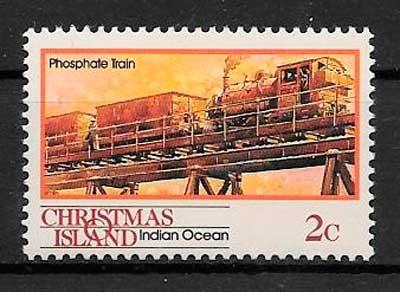 filatelia trenes Christmas Island 1990