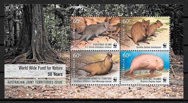 colección sellos fauna wwf Christmas Island 2011
