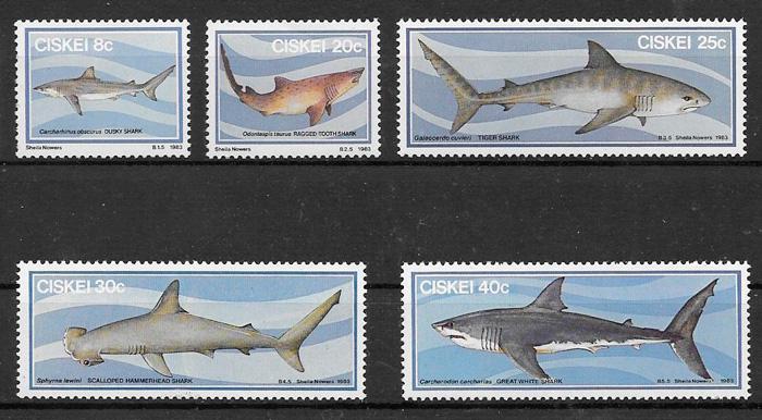 colección sellos fauna Ciskei 1983
