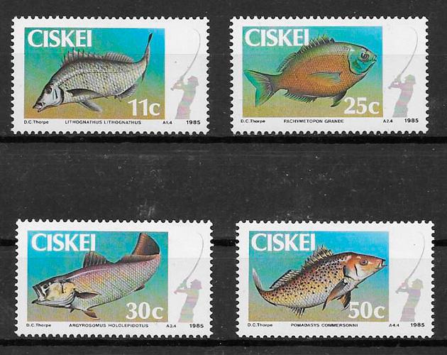colección sellos fauna Ciskei 1985