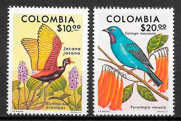 filatelia fauna y flora Colombia 1977