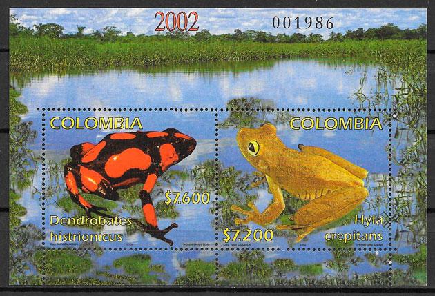selos fauna Colombia 2002