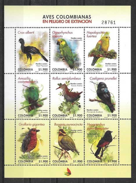 Sellos diversidad de fauna Colombia 2010