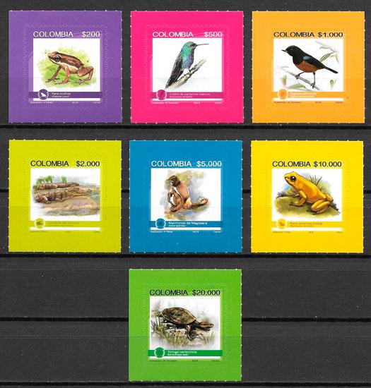 sellos fauna Colombia 2017